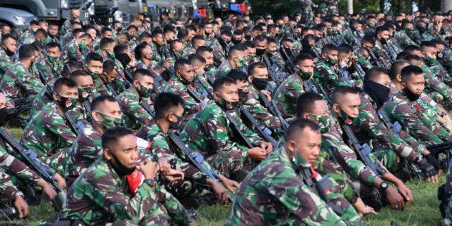 Prajurit Diponegoro gelar latihan perang Padukan Unsur Satpur, Banpur dan Banmin dalam Satu Komando Operasi