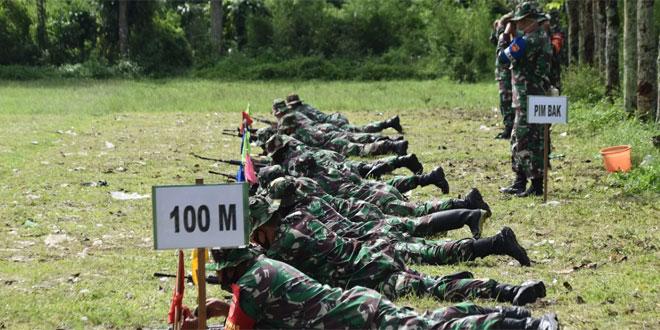Kodim Wonosobo Gelar Latihan Menembak