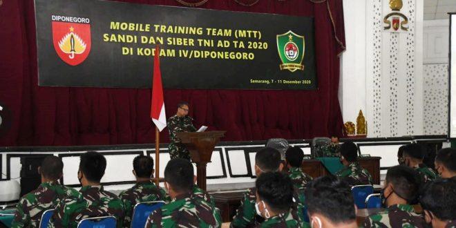 Hadapi Ancaman Cyber, Kodam IV/Diponegoro Gelar MTT Sandi dan Cyber