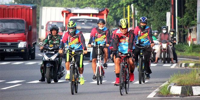 Kodim 0734/Kota Yogyakarta, Jaga Imun Tubuh Dengan Bersepeda