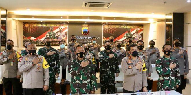 TNI-Polri Solidkan Barisan Kawal Pemerintah di Masa Pandemi Covid-19
