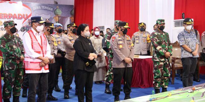 Pangdam IV Dampingi Ketua DPR RI Dalam Meninjau Arus Lalu Lintas di Pejagan Brebes