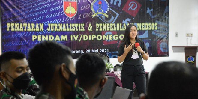 Tingkatkan Profesionalisme Insan Penerangan, Kapendam IV/Diponegoro Adakan Penataran