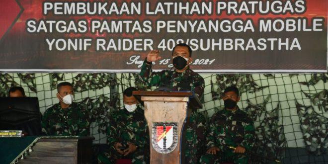 Pangdam IV/Diponegoro Buka Latihan Pratugas Yonif Raider 408/Suhbrastha