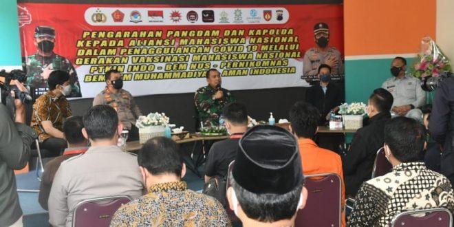 Pangdam IV/Diponegoro Dorong Sinergitas TNI-Polri Dengan Mahasiswa Dalam Percepatan Vaksinasi