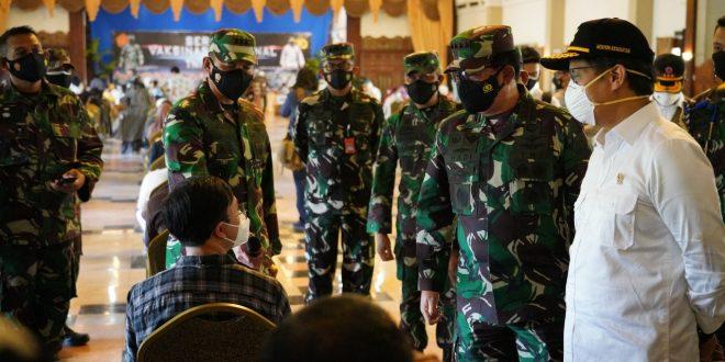 Panglima TNI : Peran Aktif Perorangan Dan Kelompok Sangat Diperlukan Dalam Memerangi Covid-19