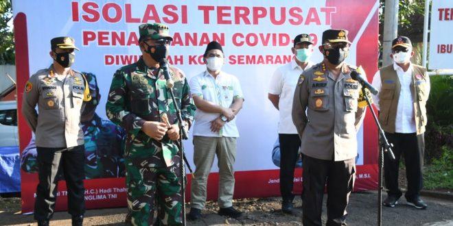 """"""" Enak Isolasi Terpusat """" Kata Peserta Isoter Kota Semarang Saat Ditanya Panglima TNI"""