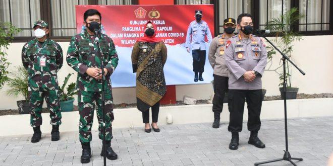 Panglima TNI Ingatkan Peran 4 Pilar Dalam Menghadapi Covid-19