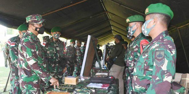 Waasops Kasad Periksa Kesiapan Satgas Pamtas RI-PNG Yonif 410/Alugoro Sektor Selatan Wilayah Papua TA 2021