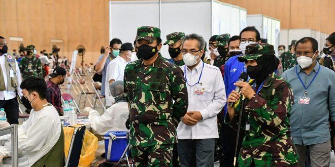 Panglima TNI Targetkan Vaksinasi Optimal Untuk Masyarakat DIY