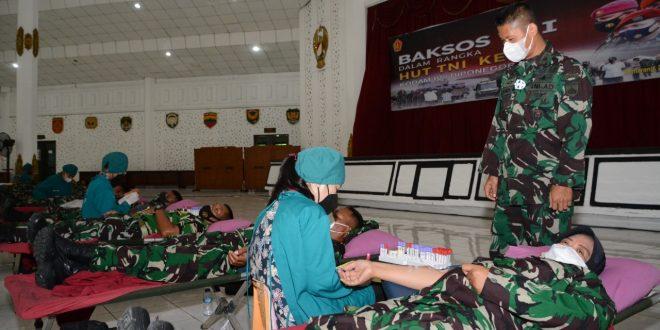 Sambut HUT TNI Ke-76, Kodam IV/Diponegoro Gelar Donor Darah