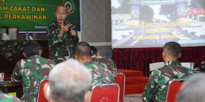 Kodam IV/Diponegoro Gelar Kegiatan Pembinaan Manajemen Pengelolaan Zakat Dan Perkawinan