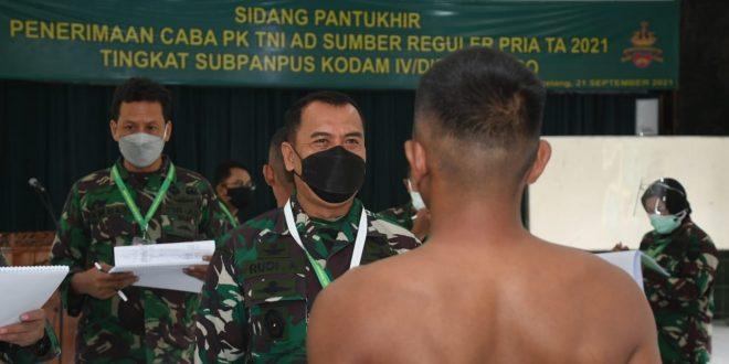 Pangdam IV/Diponegoro Berkomitmen Dukung Kebijakan KASAD, Masuk Tentara Gratis