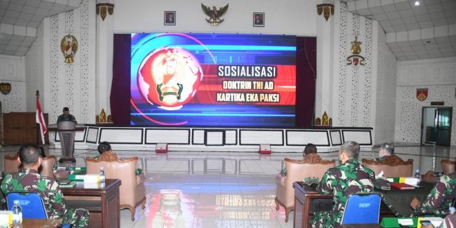 Kasdam IV/Diponegoro Memimpin Sosialisasi Doktrin TNI AD Kartika Eka Paksi (KEP) TA 2021
