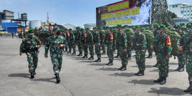 Satgas Yonif 410/Alugoro Bawa Misi Menjaga Kedaulatan Perbatasan RI – PNG Di Papua