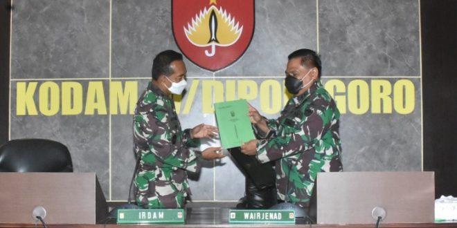 Irdam IV/Diponegoro Pimpim Acara Taklimat Akhir Pengawasan Current Audit Itjenad TA. 2021