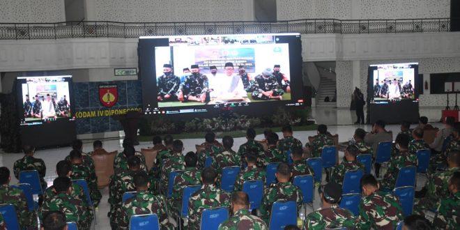 Tabligh Akbar Dan Doa Bersama Menyambut HUT Ke – 76 TNI Dan HUT Ke-71 Kodam IV/Diponegoro