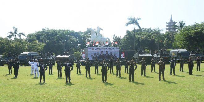 Pangdam IV/Diponegoro Dan Forkopimda Jateng Ikuti Upacara HUT Ke-76 TNI Secara Virtual